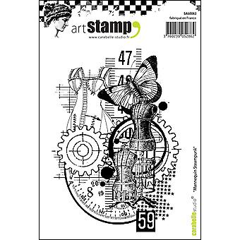 "Carabelle Studio ""skyltdocka Steampunk"" Cling stämpel, vit/Transparent, A6"