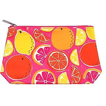 Clinique Limão Laranja Laranja Pink Grapefruit Cosmetic Makeup Bag Novo