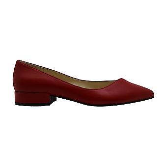 Kenneth Cole New York Womens Camelia Leather Pointed Toe Slide Flats
