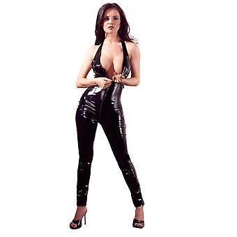 Pvc Catsuit With Open Crotch