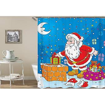Santa Is Sneaking präsentiert Duschvorhang