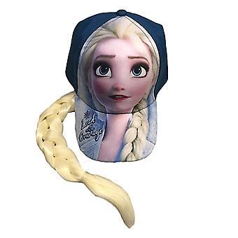 Baseball Cap - Disney - Frozen 2 Elsa w/Ponytail Lead Courage Blue New 410336