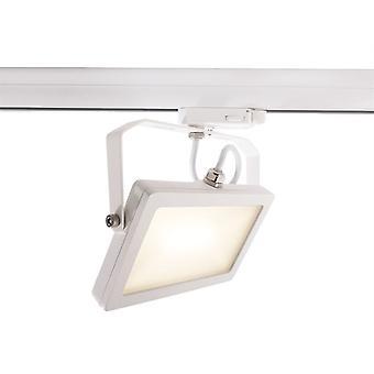 LED 3-phase rail spotlight Flood SMD 15W 3000K 100° white