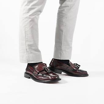 Blakeseys Scooter Mens Leather Tassel Loafers Oxblood
