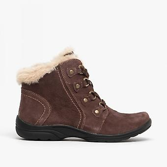 Earth Spirit Buckland Ladies Suede Ankle Boots Bark