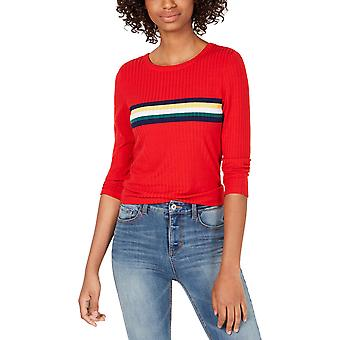 Crave Fame Juniors' Striped Ribbed Knit Top
