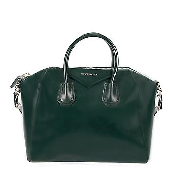 Givenchy Antigona Dark Green Leather Medium Satchel Bag