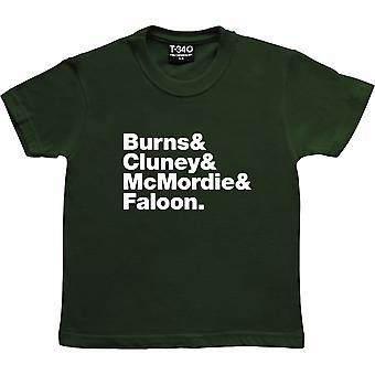 Steife kleine Finger Line-Up Racing Green Kids' T-Shirt