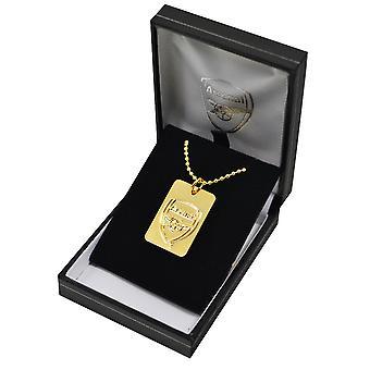 Etiqueta de perro de Arsenal FC fútbol plateado oro de la cresta y la cadena