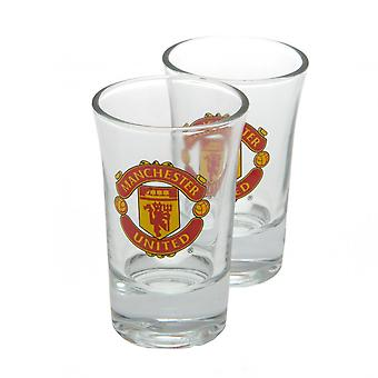 Manchester United FC officiel verre ensemble (Pack de 2)