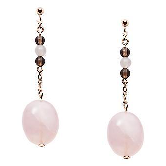 Fossil earrings JF03145791 - CLASSICS Steel Dor Rose Quartz Rose
