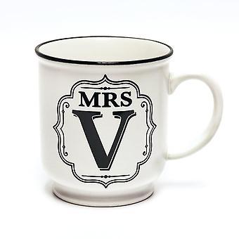 Histoire et Heraldry Alphabet Mug - Mme V