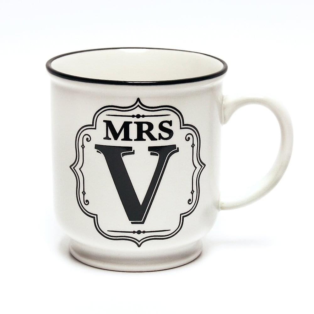 History & Heraldry Alphabet Mug - Mrs V