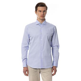 Męskie koszulki Roberto Cavalli Light Blue Z długim rękawem