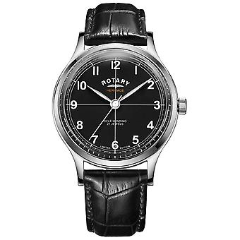 Rotary Men's Limited Edition Heritage | Black Leather Strap | GS05125/04 Watch