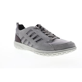 Geox U Mansel  Mens Gray Suede Lace Up Low Top Sneakers Shoes