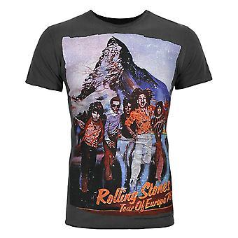 Amplified Rolling Stones Tour '76 Men's Charcoal T-Shirt