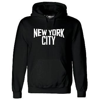 Réalité glitch New york city mens hoodie