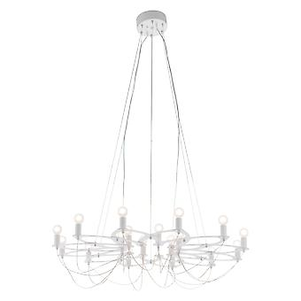 "42.5"" x 42.5"" x 11"" White, Metal, Ceiling Lamp"