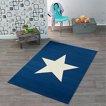 Design tapis de velours star foncé bleu 140 x 200 cm | 102201
