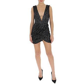 Amen Ams20403009 Kvinnor's Black Polyester Dress