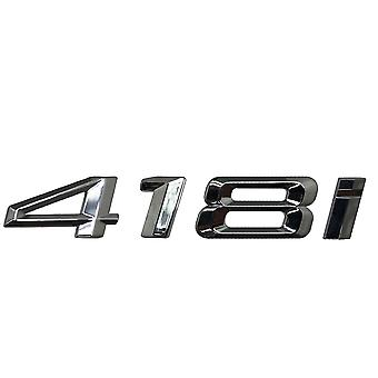Silver Chrome BMW 418i Car Model Rear Boot Number Letter Sticker Decal Badge Emblem For 4 Series F32 F33 F36 G22 G23 G26