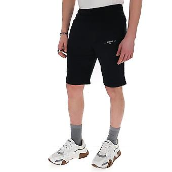 Off-white Omci006r20d250171001 Men's Black Cotton Shorts