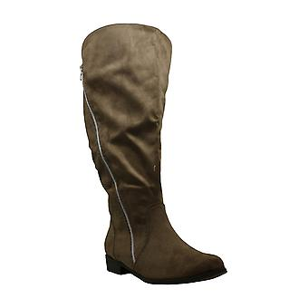 Journee Collection Womens Extra Wide Calf Kerin Almond Toe Knee High Fashion ...