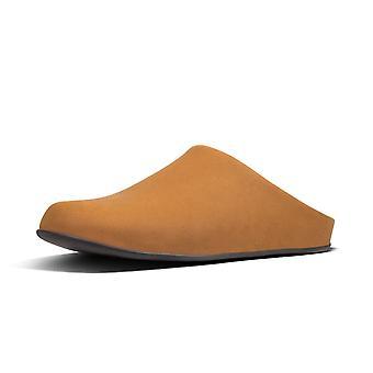 FitFlop Shove™ Mule Leather Men's Chinelos Em Bronzeado Escuro