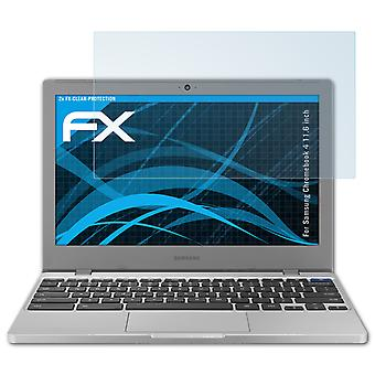 atFoliX 2x Screen Protector compatible with Samsung Chromebook 4 11.6 inch clear