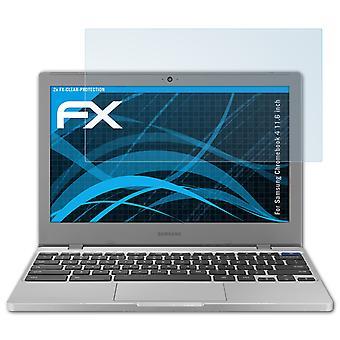 atFoliX 2x Ekran Koruyucusu Samsung Chromebook 4 11,6 inç net ile uyumlu