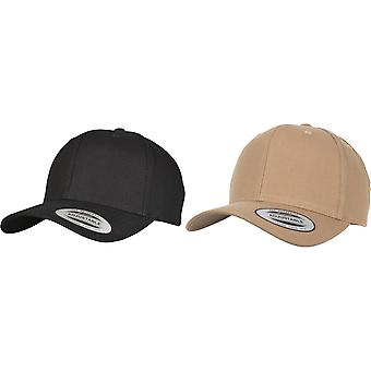 Flexfit By Yupoong 6 Panel Curved Metal Snap Cap