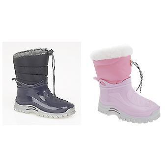 StormWells Childrens Unisex Tie Top Thermal Wellington/Snow Boots
