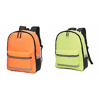 Shugon Gatwick Hi-Vis Backpack (18 Litres) (Pack of 2)