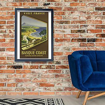 Visit France The Basqu Coast Poster Print Giclee