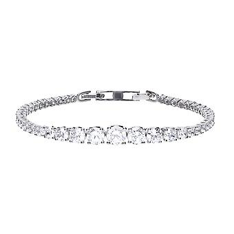 Diamonfire Silver & White Zirconia Graduated Tennis Bracelet