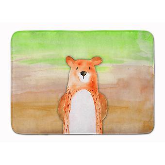 Carolines Treasures  BB7434RUG Bear Watercolor Machine Washable Memory Foam Mat