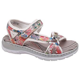 Sandália de caminhada da correia ajustável multicolorida de Rieker