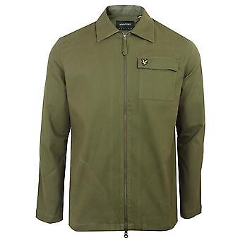 Lyle & scott men's lichen green twill overshirt