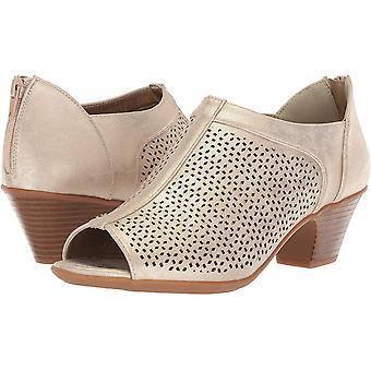 Easy Street Womens steff Leather Peep Toe Casual Slide Sandals