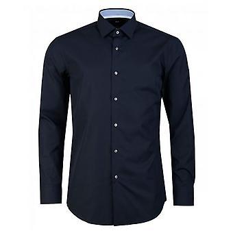 BOSS Joram Plain Poplin Contrast Trim Shirt