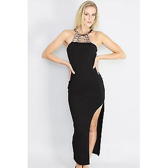 Total eclipse splice maxi dress