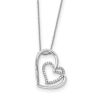 925 Sterling Zilver Gepolijst Gift Boxed Spring Ring Rhodium verguld CZ Cubic Zirconia Gesimuleerde Diamond Dank u oma