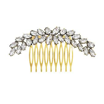 Headdress, party ball decoration hair accessories, fashion elegant rhinestone hair accessories gold