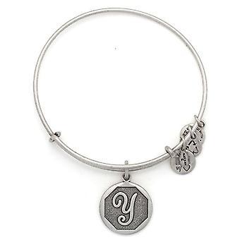 Alex and Ani Initial Y Charm Bangle Bracelet - A13EB14YS