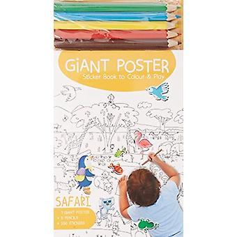 Giant Poster Colouring Book Safari