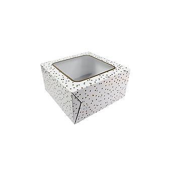 """Culpitt Metallic Spot Cake Box 10"""""""