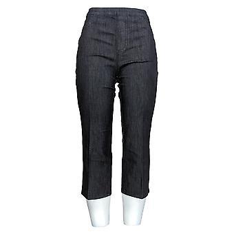 Isaac Mizrahi Live! Damen's Petite Jeans 365 Stretch Denim Crop Blue A254302