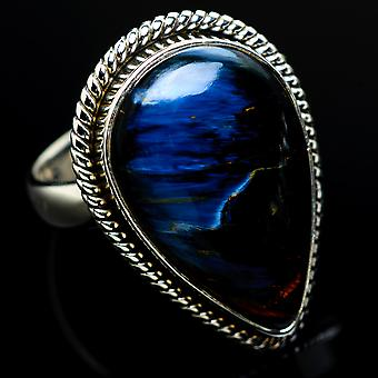 Pietersite Ring Size 7 (925 Sterling Silver)  - Handmade Boho Vintage Jewelry RING7925