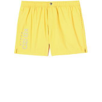 Kenzo Fa55ba108sea39 Men's Yellow Polyester Trunks